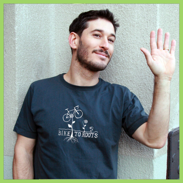 t-shirt Bike-to-roots-man