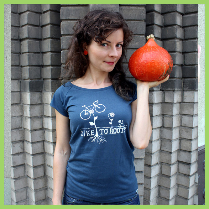 T-shirt Bike-to-roots-woman