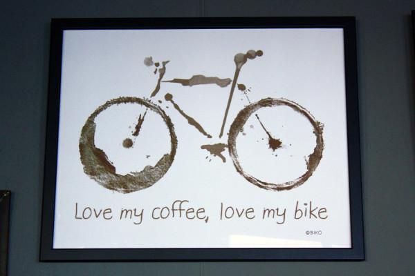 bike and coffee