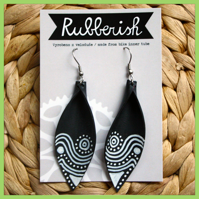 "Earrings ""Rubberish"""